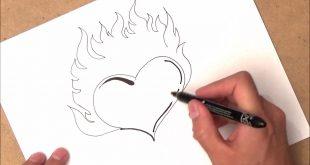 صورة كيفية رسم القلب , اسهل الطرق لرسم قلب