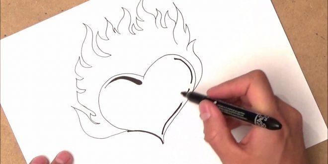 صور كيفية رسم القلب , اسهل الطرق لرسم قلب