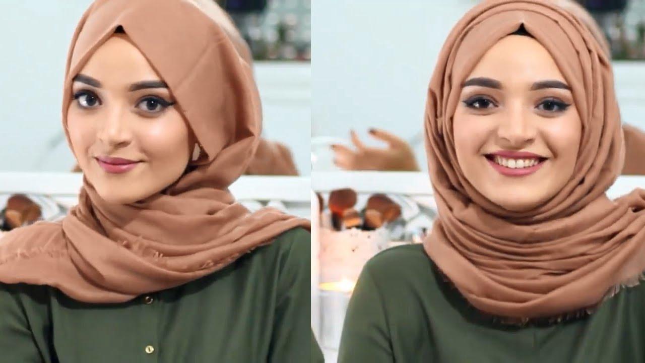 صورة احلى لفات الشال , لفات مودرن للحجاب الانيق