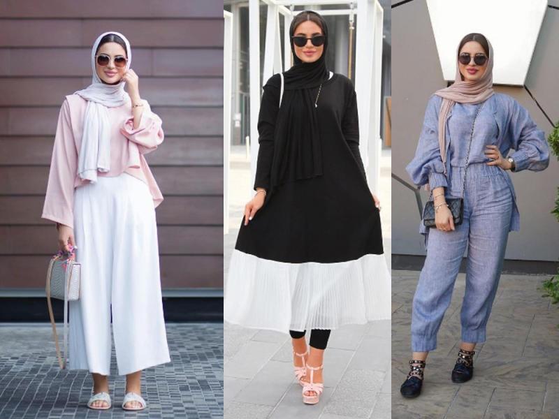 صورة اجمل الملابس للمحجبات , ملابس عصريه لكل محجبه