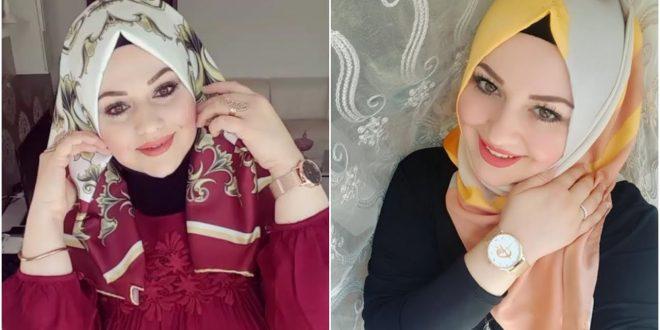 صورة لفة حجاب تركية , طريقه لف الايشارب باللفه التركيه