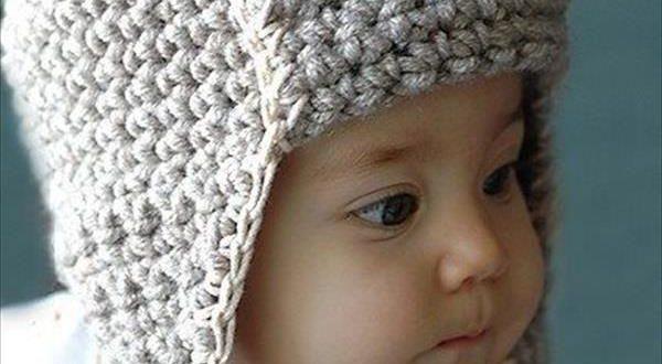 صورة قبعات كروشيه للاولاد , اجمل القبعات الشتوي للاولاد