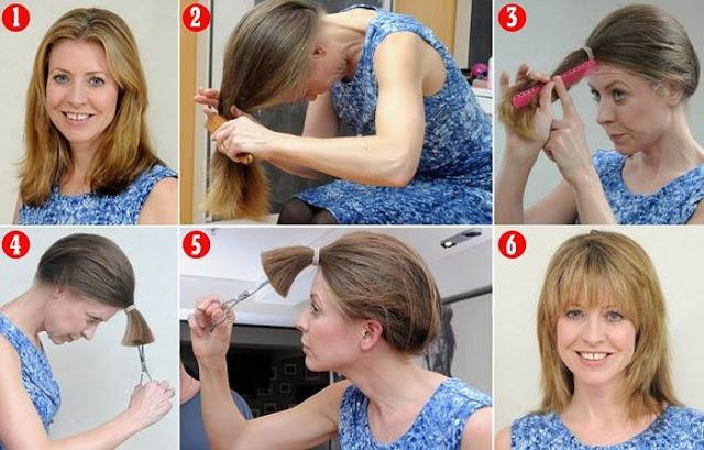 صورة كيفية قص الشعر , تعلمي كيف تقصي شعرك بابسط طريقة