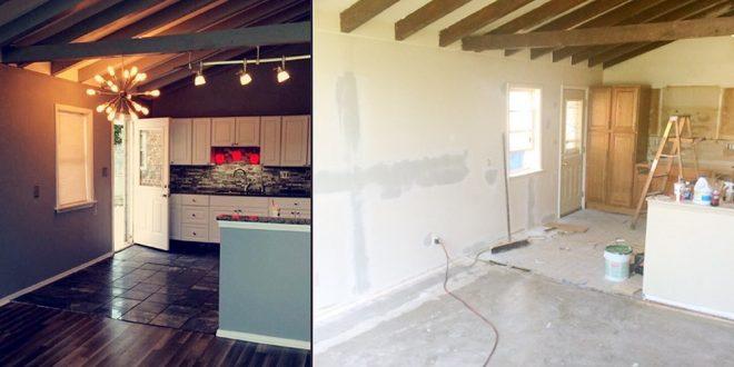 صورة ديكور قبل وبعد , غيرت شكل المنزل بشكل رهيب