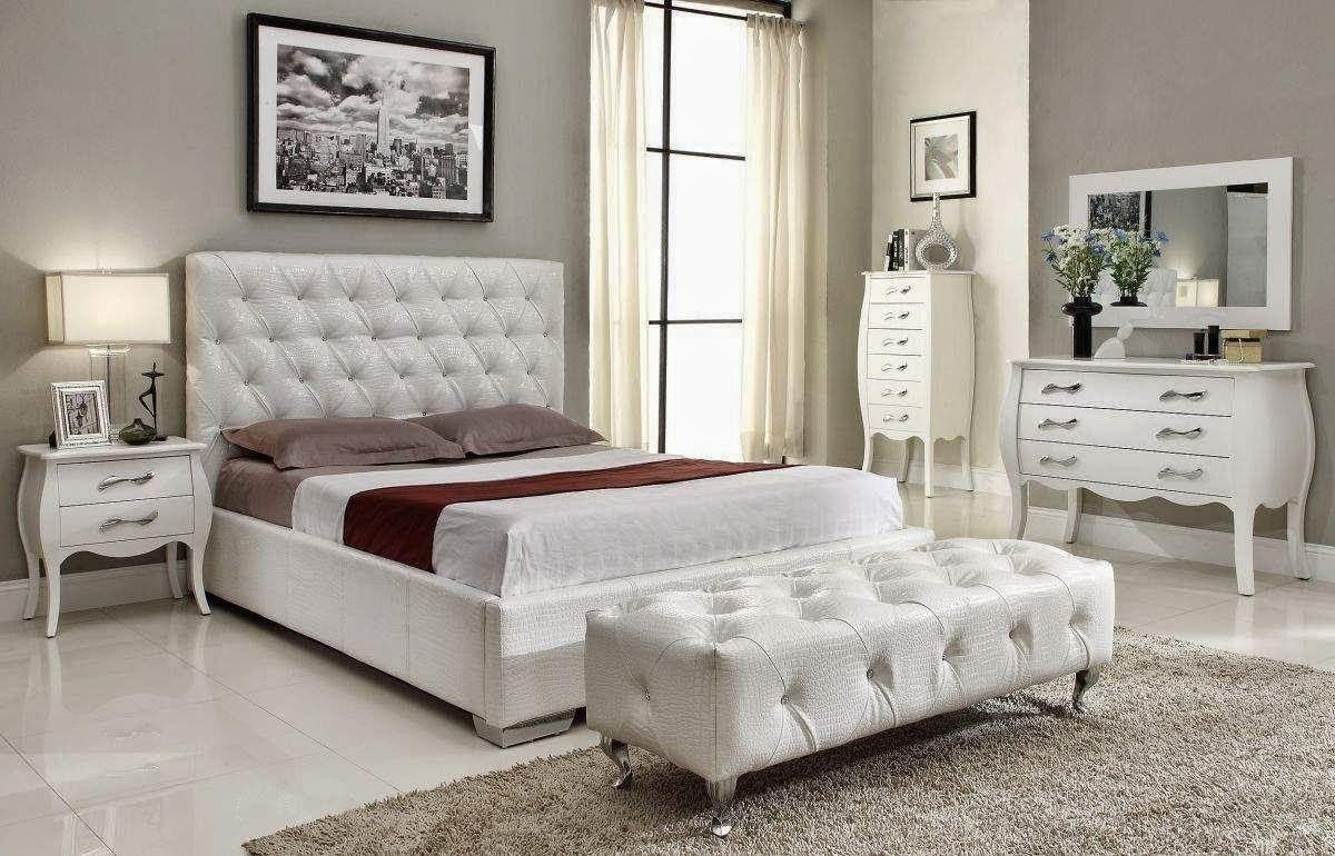 صورة غرف نوم بيضاء , ديكورات في غاية من الجمال