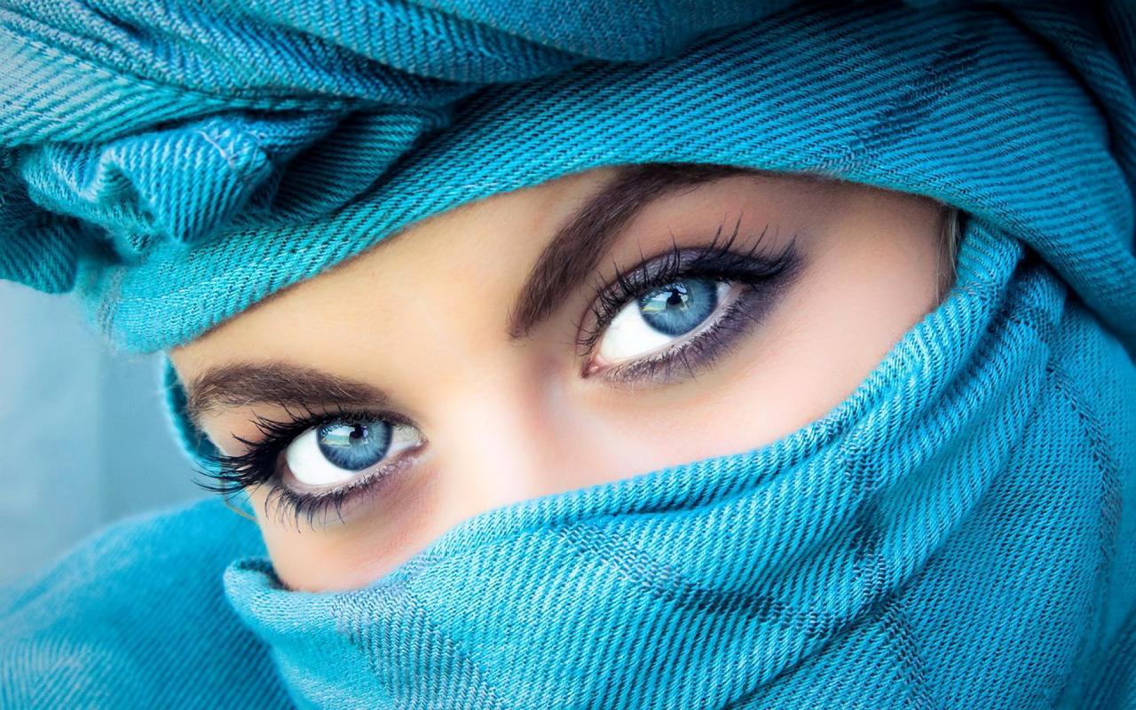 صورة اجمل عيون بنات محجبات , عيون في غاية من البراء و الجمال