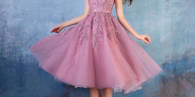 صورة فساتين سهرة قصيرة , احلي فستان ممكن يختر في بالك