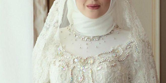 صورة اجمل طلات العروس , عرايس تجنن باحلي فستان ابيض