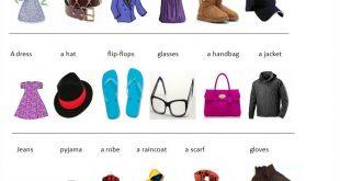 صورة اسماء الملابس بالانجليزي للاطفال , بالصور كلمات انجليزية لطفلك