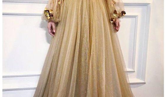 صورة فساتين سهرة طويلة , فستان سهرات مميز طويل