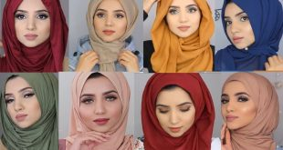 صورة لفات حجاب للوجه الصغير , جمالك يكون بحجابك