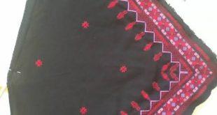 صورة تطريز فلاحي شالات , التطريز الجميل الاصيل