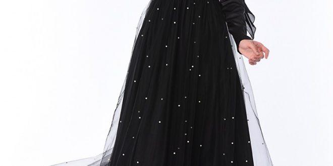 صورة فساتين سواريه اسود , واو الرقة و الجمال بفساتين سواريه اسود