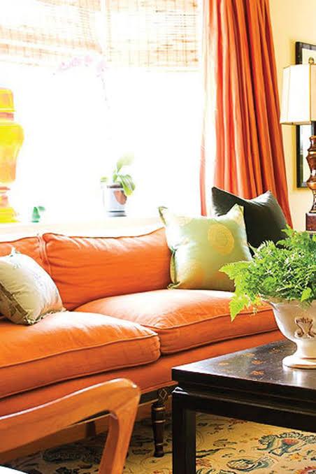 صورة اللون البرتقالي في الديكور , ديكورات مختلفة عن بعضها