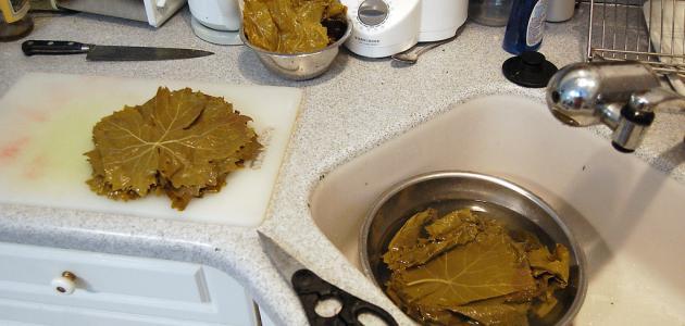 صورة طريقة لف ورق العنب , احلي واسرع طريقة لست البيت