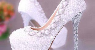 احذية عرايس بيضاء , ليلة العمر واحلي واجمل حذاء ممكن تختاري ليها