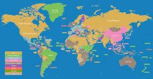 خريطة العالم بالانجليزي